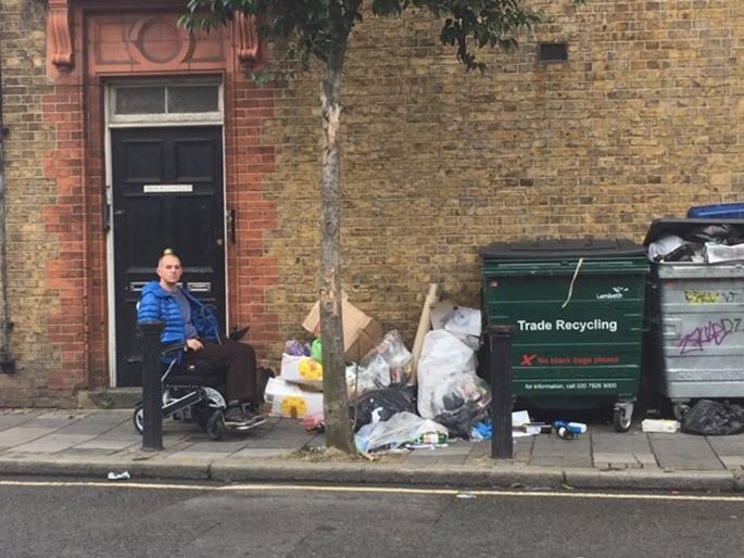 Herne Hill Blocked Streets with Rubbish